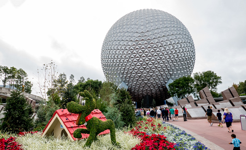 Arriving at Epcot - December 15, 2015