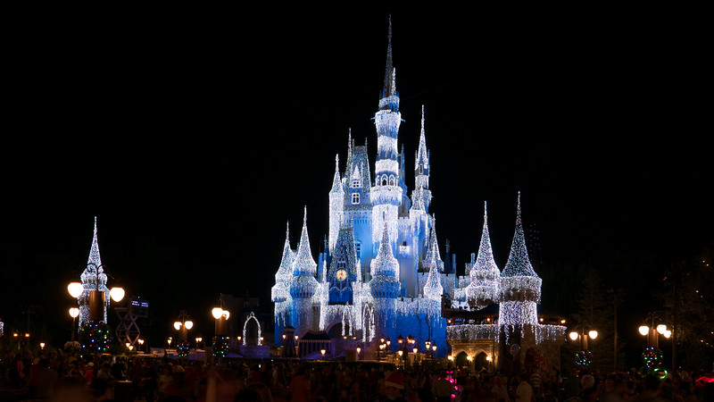 Disney Castle at night - Awesome!
