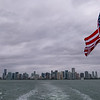 View of the Miami Beach skyline from the boat