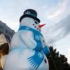 Snowman balloon on float