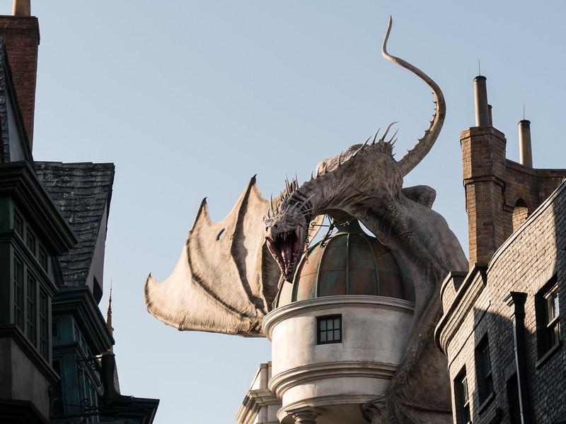 Dragon over Gringotts Bank