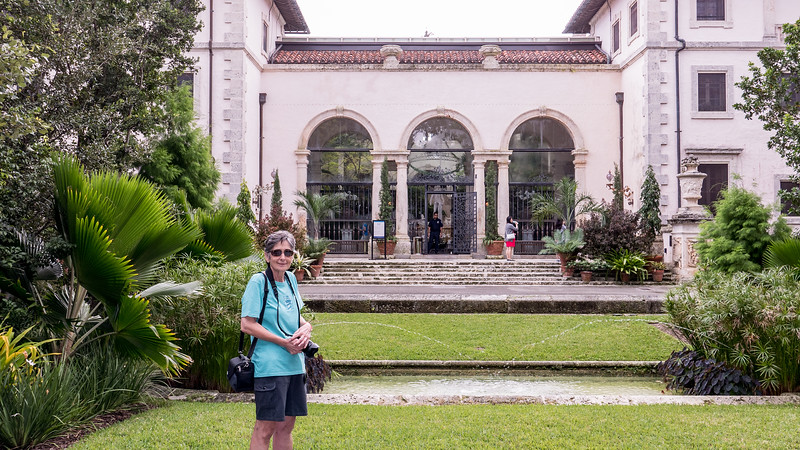 Mercedes before our tour of Deering's mansion