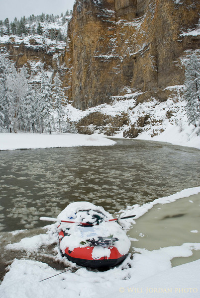 Montana Smith River Spring Snow Raft