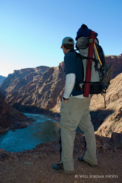 Grand Canyon. Colorado River. Arizona. Bright Angel. Backpack.