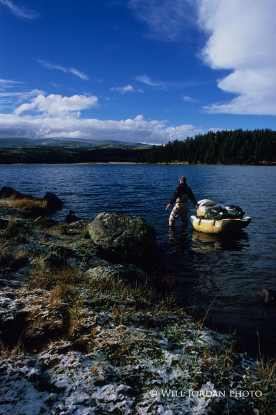 Reservation Lake, Arizona, White Mountains, Apache, Float Tube, Fall