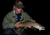 grip and grin. brown trout. streamer. Montana. Night fishing.