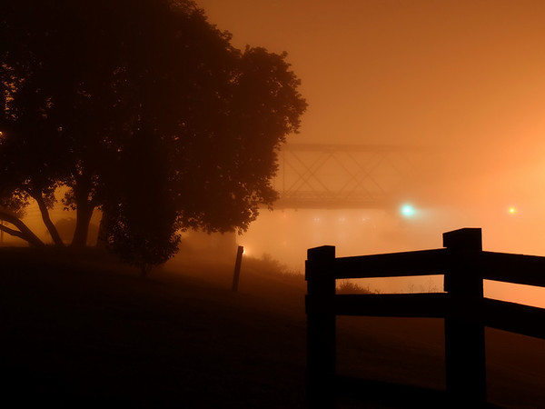 Erie Canal in Fog - August 12, 2009