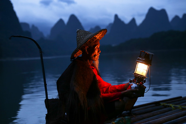 Classic fisherman on the Li river