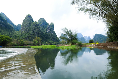 Jinbao river in Yangshuo