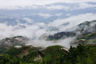 Dazhai rice terrace scenery