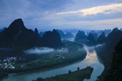 Li river valley at dawn