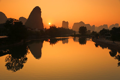 Yulong river sunrise