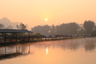 Early morning in Yulong river