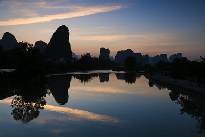 Yulong river at dawn