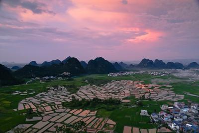 Huixian glass rice paddies
