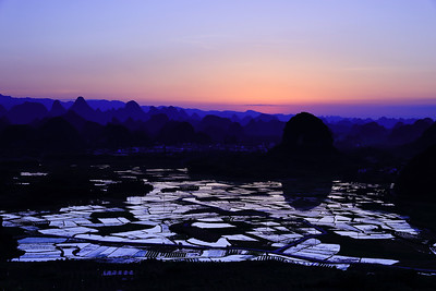 Putao dusk scenery