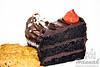 Cookies, cupcake and a slice of chocolate cake<br /> <br /> © Copyright Hannah Pastrana Prieto
