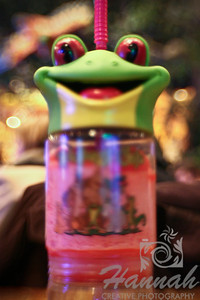 A Lensbaby shot of a child's drink from Rainforest Cafe.  © Copyright Hannah Pastrana Prieto