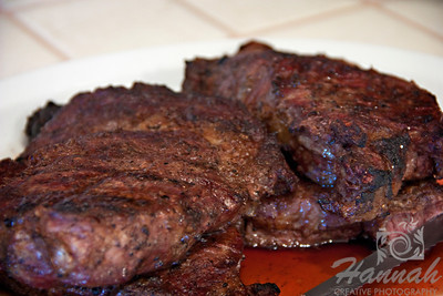 Close-up of a ribeye steak.   © Copyright Hannah Pastrana Prieto
