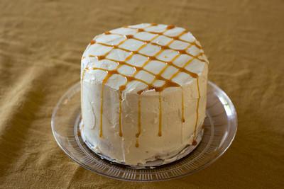 Caramel Frappucinno cake