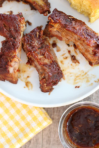 Slow Cooker Easy Smokehouse BBQ Ribs