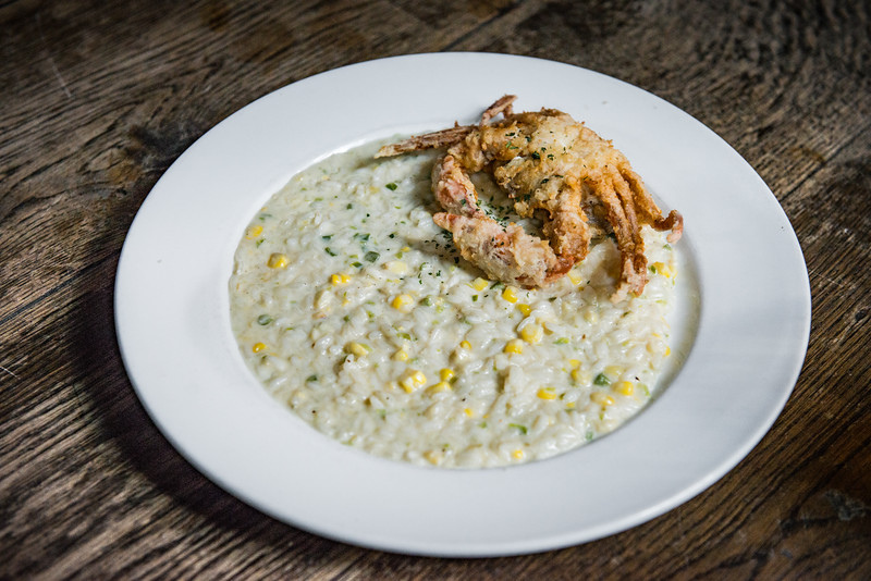 Soft Shell Crab Risotto!
