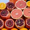 fresh fruits on a street food market in Istanbul, Turkey