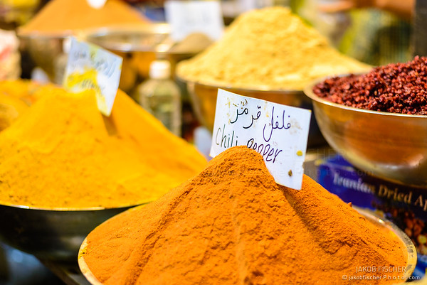 Choice of Spices at the  Bazar