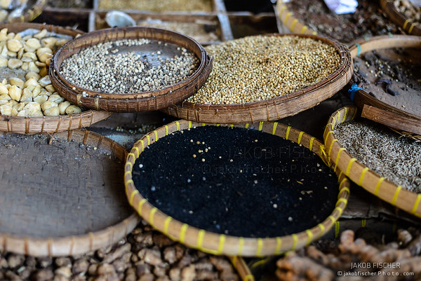 Spices on a daily market