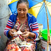 Burmese lady on a market