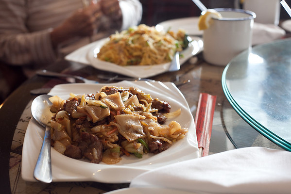 Peter Chang's, Stir-fried Flat Rice Noodles with Beef