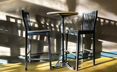 Cafe Chairs and Table, Portland, 2018