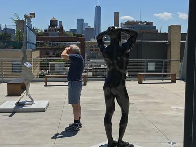 Elbows: Man & Sculpture, New York City, 2019
