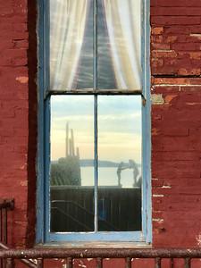 Kids in Window Reflection, Port Townsend, Washington, 2019