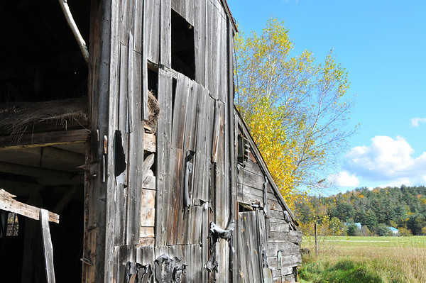 During my Fall New Hampshire trip, I found this abandoned barn along Route 118. There were many abandoned cars from the 1940's/50's? inside.