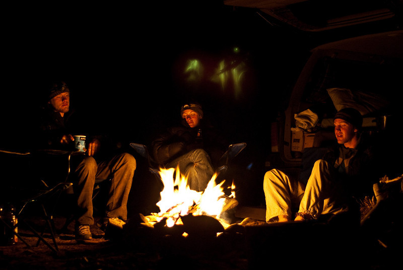 This is how we end the nights, fires in the desert. From left to right Trevor, Alex, and Erik. Alex and Erik met in Red Rocks, Nevada climbing and are also rock climbing for a year.