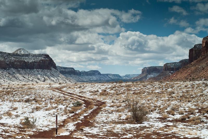 Beautiful snow, but no climbing because of it. Indian Creek area.