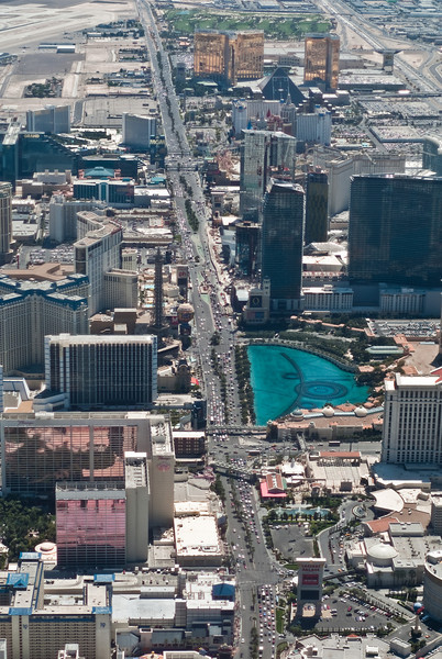 Flying over the strip.