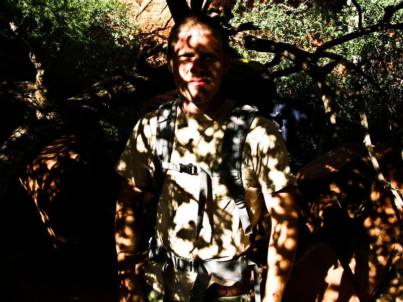 Trevor in some bushes.