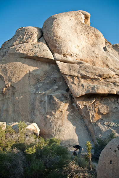 This is the first climb that we did in Joshua Tree.