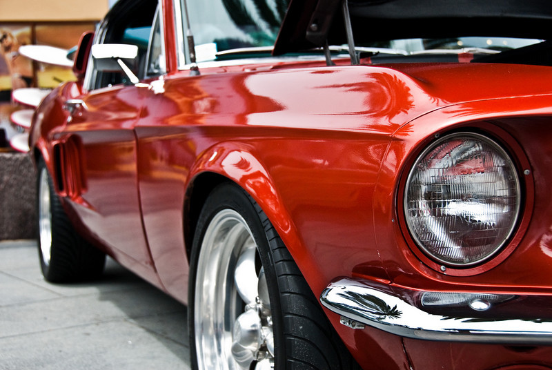 This was my favorite car there. I think it's a late 60's Mustang Fastback.