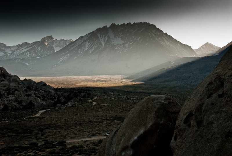 This one is obviously heavily post-processed, but it's cool. That is Basin Mountain in the center.