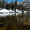 Horton Lake. Part of the lake is still covered in snow. That didn't stop us from taking a little swim.....