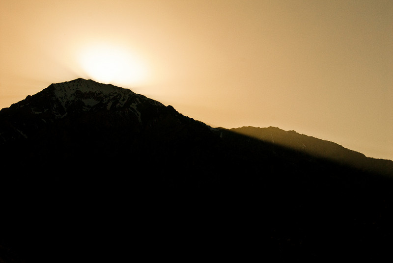 Sun setting behind Mt. Tom.