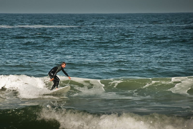 Bennet shredding a little clean face. The waves were not ideal, but it's always fun to get out there.