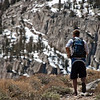 Trevor hiking up the trail to Horton Lake. The High Sierras are beautiful.