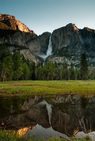 Reflection of Yosemite falls.