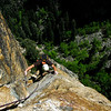 Trevor climbing The Northeast Buttress of Higher Cathedral Rock.
