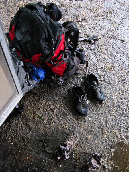Our gear got soaked as well.