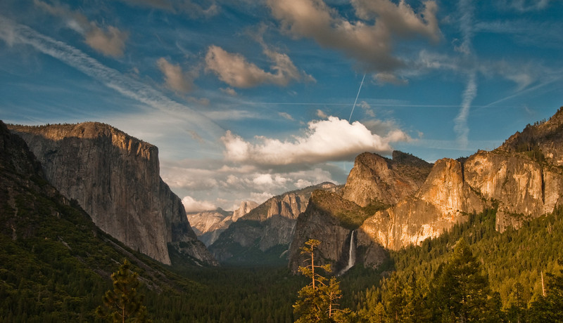 Sunset in Yosemite Valley. I took a shot from this same spot a few days ago and it was pretty good, but I knew I could do better and get better weather/light. I like this shot much more.